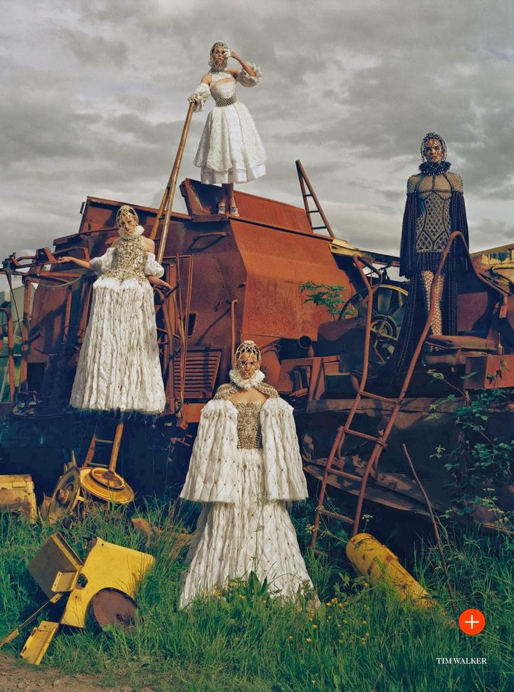 visual optimism; fashion editorials, shows, campaigns & more!: made in britain: kate, rosie, charlotte, karen, sam, edie, stella, malaika and more by tim walker for uk vogue december 2013