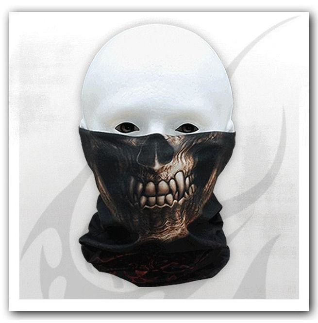 Spiral Goth Skull Multi-functional Face Wrap Gothic,Goth