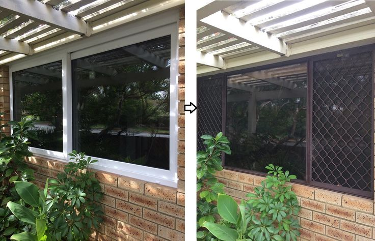 Double Glazed window conversion, old aluminium window with unsightly diamond grill over the windows.  Take a look at the new double glazed sliding window and see the difference the new window makes.  Would you like us to do this for you? Give us a call for your FREE QUOTE today 1800 822 207 #Perth #doubleglazing #ADG #upvcwindows