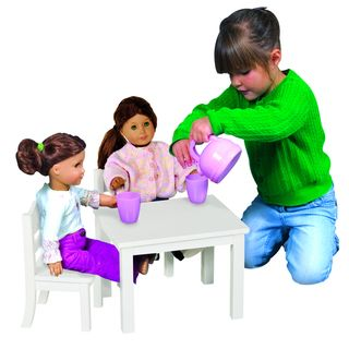Guidecraft White Doll Table and Chair Set | Overstock.com Shopping - Big Discounts on Guidecraft Furniture & Accessories