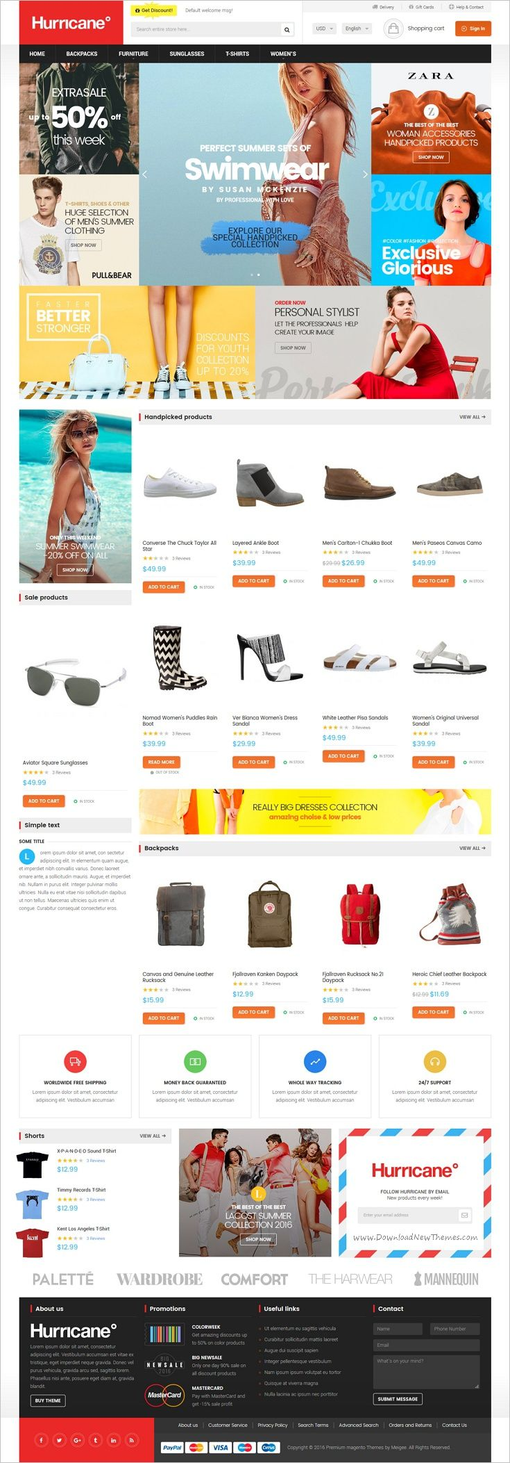 Hurricane is beautifully design #Magento 2 theme for #webdev stunning #fashion #store eCommerce website download now➩ https://themeforest.net/item/hurricane-fashion-magento-2-theme/18565240?ref=Datasata