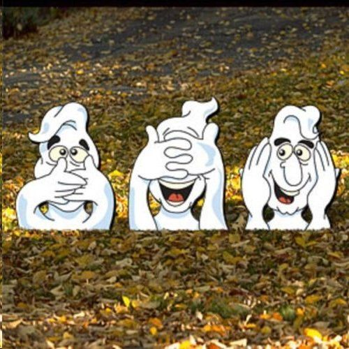 Hello,Welcome to my store :)  See,Hear,and Speak no evil ghosts you get all 3 ...    Every piece I make is made on exterior grade 1/2 inch MDO