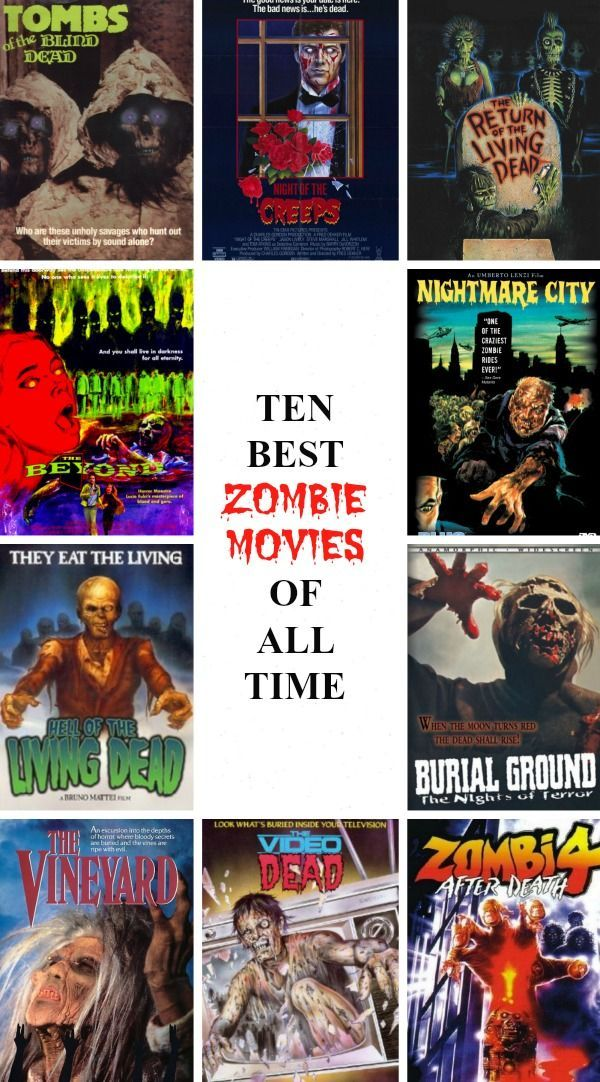 Best Zombie Movies of All Time http://www.celluloiddiaries.com/2012/10/top-10-best-zombie-movies-ever.html / Best Zombie movies of the 70s / Best Zombie Movies of the 80s / Burial Ground / The Vineyard / The Video Dead / Zombi 4: After Death / Hell of the Living Dead / The Beyond / Nightmare City / Tombs of the Blind Dead / Night of the Creeps / The Return of the Living Dead