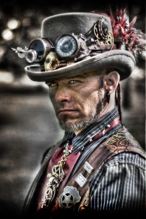 """Old West Steampunk via Baroness Violet von Mickelsburg """"Capt. Cedric Whittaker of Airship Isabella"""" <3 C"""