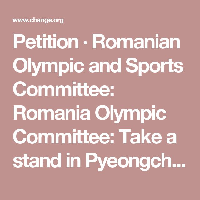 Petition · Romanian Olympic and Sports Committee: Romania Olympic Committee:  Take a stand in Pyeongchang 2018 against the dog meat trade! · Change.org