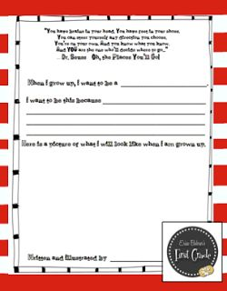 Dr. Seuss Printable Worksheets