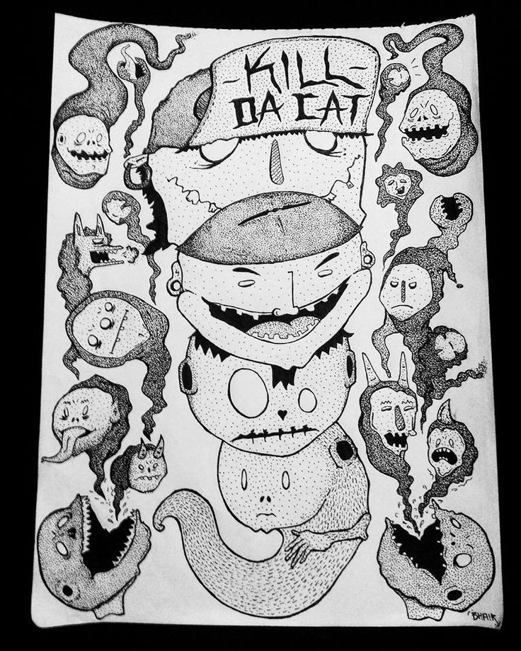 #TheBhairTapia #NoSoyIlustrador #draw #cartoon #ugly #bn #creepy #bizarre #weird #punk #rock #metal #death #demons #possessed #evolution #bn #estilografo #art