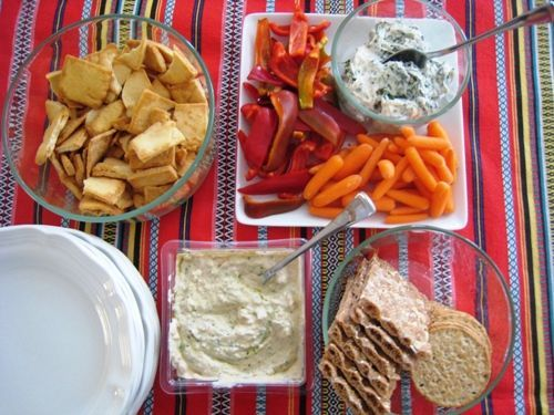 Healthier Spinach Dip - this dip is a bit better for you than the mayo-laden variety, thanks to the yogurt. Still super yum.