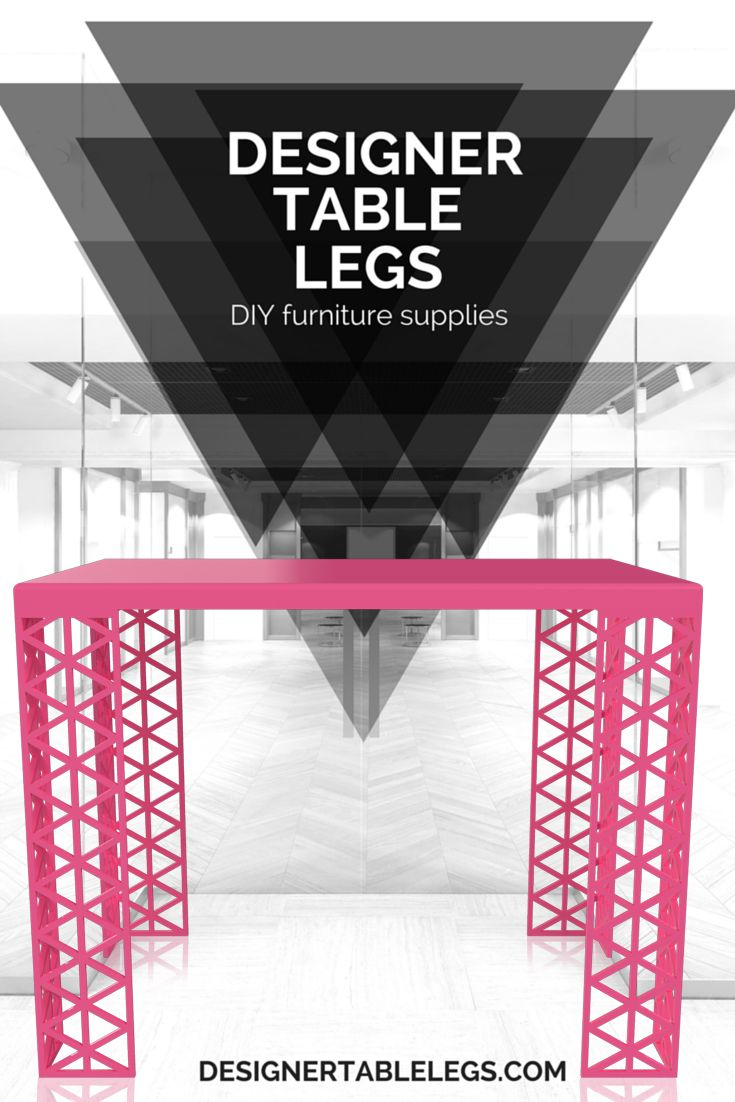 Trigon triangle pink table legs diy furniture supplies for tables desks i - Tringle armoire ikea ...