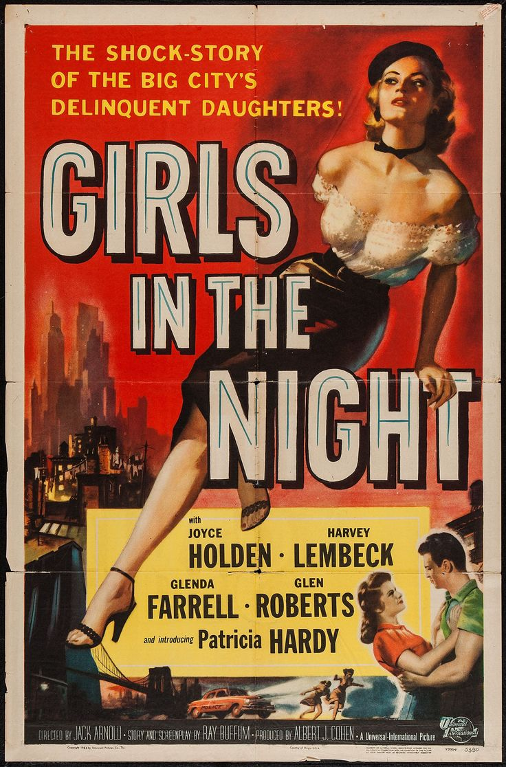 Girls in the Night Vintage Film Poster art, classic, film, movie, retro, vintage