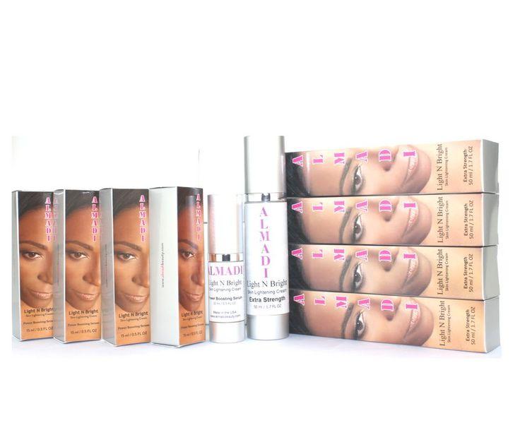 Almadi Light N Bright Skin Lightening Cream System Kit - 8 Pack Bundle Super Duper Deal