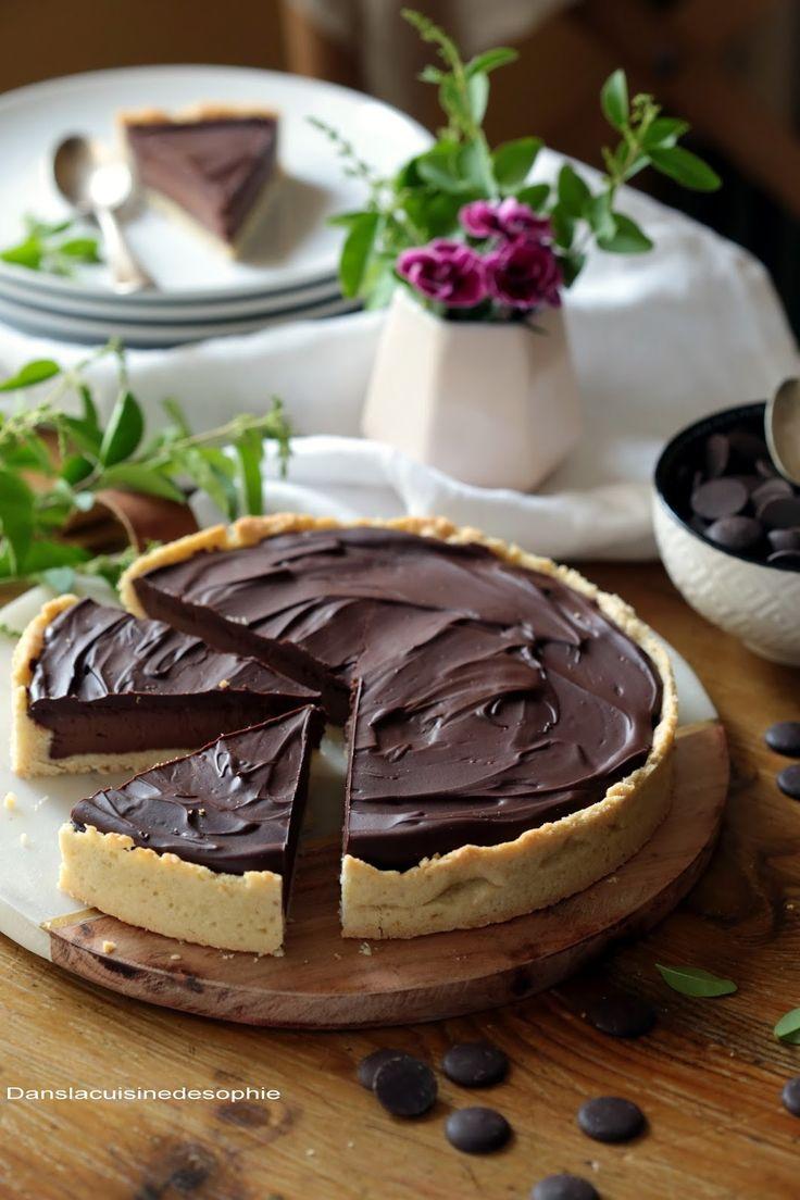 Un dessert doublement gourmand : la tarte double chocolat !