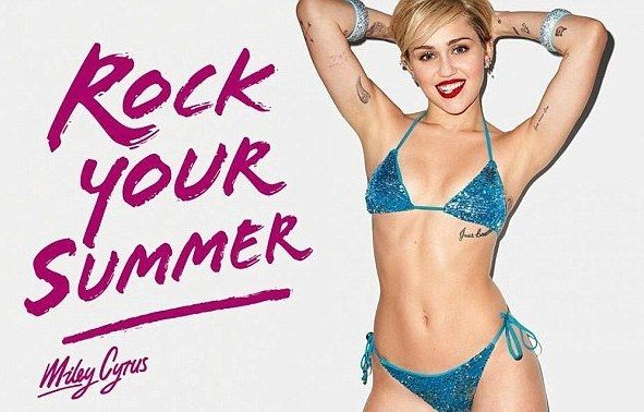 WATCH: Miley Cyrus's Rock Your Legs by Golden Lady Commercial!
