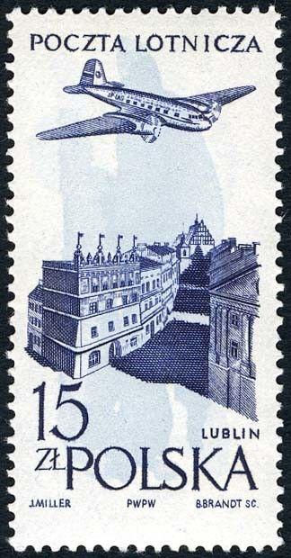 Znaczek: Lublin old town (Polska) (Poczta lotnicza) Mi:PL 1040,Sn:PL C48,Pol:PL 895