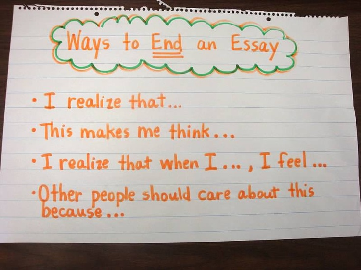 ending a essay The close, or conclusion, is one of the most important parts of a research paper it brings together all key pieces of information presented earlier in the paper and.