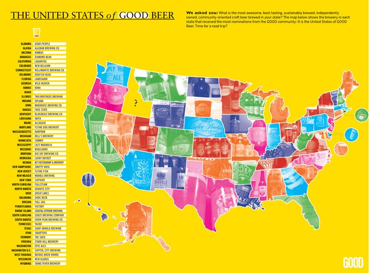 "The ""United States of Good Beer"" -- great visual representation of the country's great brewing heritage."