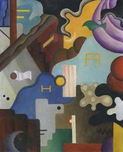Julius Evola (1898 - 1974) |  Futurism, Dada | Composizione futurista