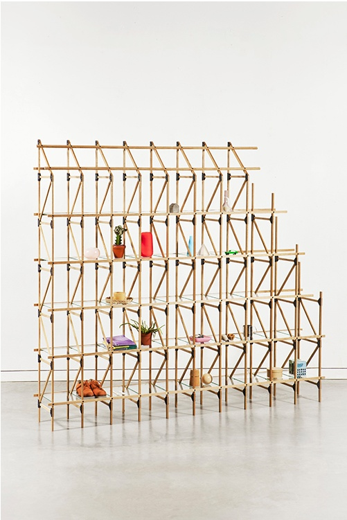Mieke Meijer and Roy Letterle; Shelving Unit for Studio Mieke Meijer.