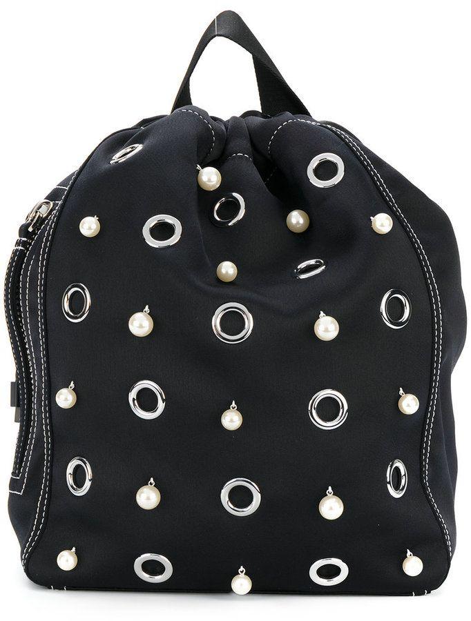 3.1 Phillip Lim faux pearl embellished backpack