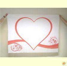 Herzlaken Herz mit Blumen zum Ausschneiden inkl. 2 Scheren Hochzeitsspiel