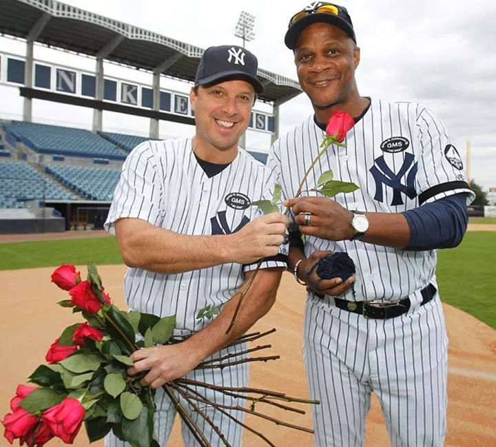 Yankee Greats - Tino Martinez and Darryl Strawberry