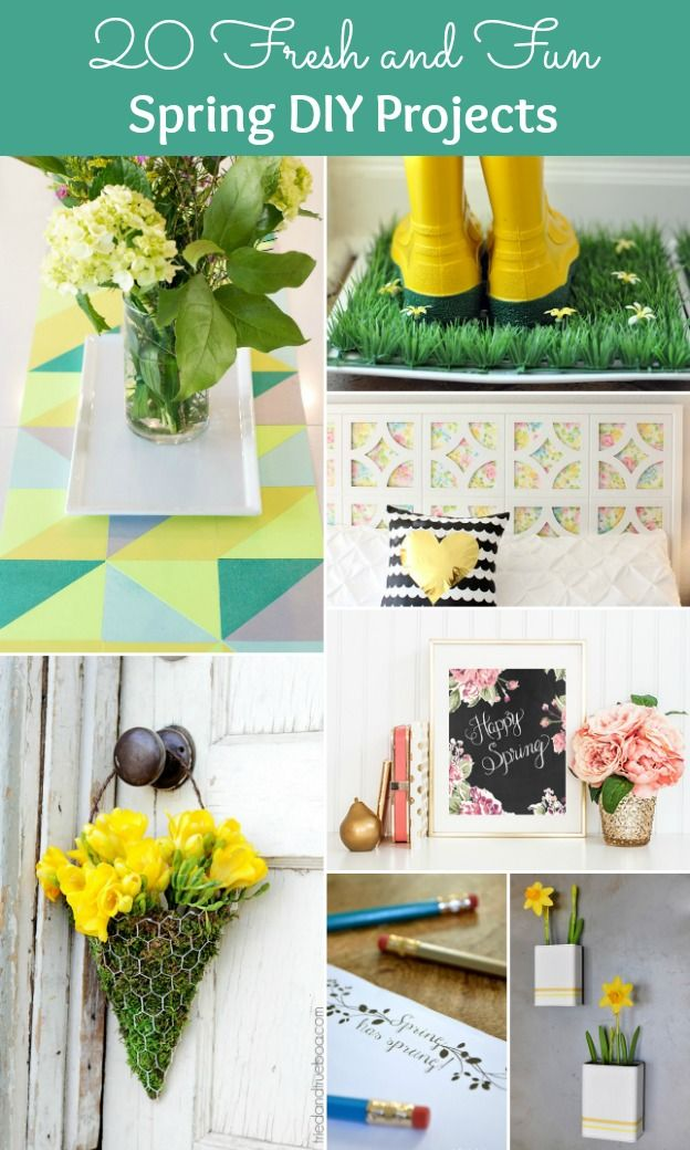 20 Fresh + Fun Spring DIY Projects