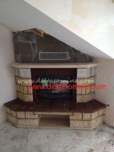 Sinan Bey'in Üsküdar'da Bulunan Evine Yaptığımız Rustik Şömine  Hazneli bir modeldir, kandıra taşı ve kahve Kayseri taşı kullanılmıştır.