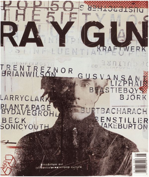 magazine cover for Ray Gun, founded by art director David Carson