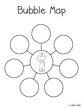 Bubble map with person in the middle-great for work....