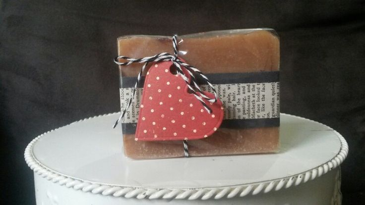 Rustic Soap packaging. Buttermilk, honey and cocoa cp soap