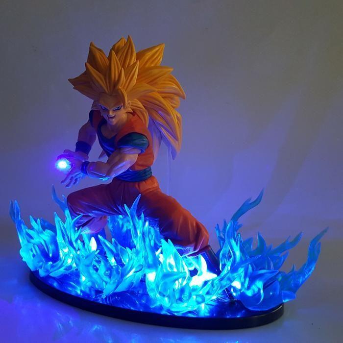 Son Goku Super Saiyan 3 Kamehameha Wave Pose Blue Diy 3d Led Light Lamp Dbz Dragonball Lamp Goku Dragon Ball Super Art Dragon Ball