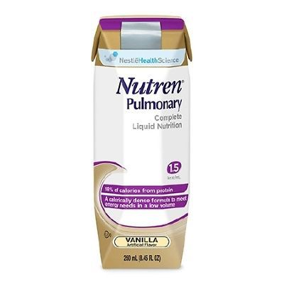NEW DEAL! Nutren Pulmonary Oral Supplement Vanilla 250 mL Carton -144 Pack