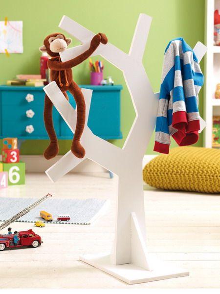 white tree hanger for kids...how to...