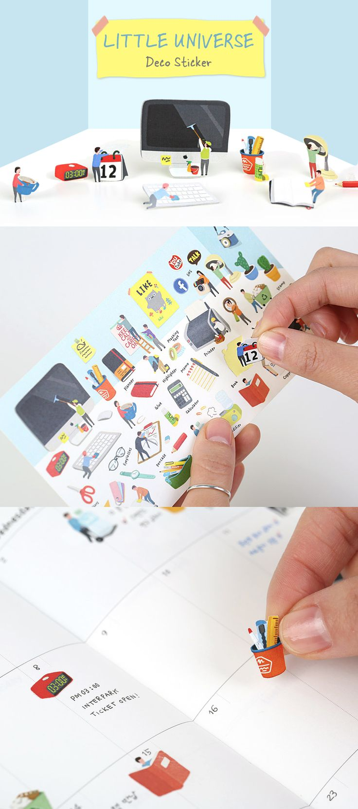 Our daily life is minimized into the adorable stickers! Use these cute stickers to decorate your scheduler, diary, note, letters and so much more!