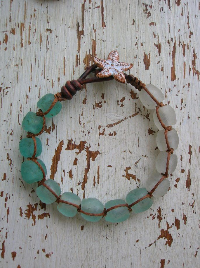 Beachy wrap bracelet Beachcomber Boho jewelry by 3DivasStudio