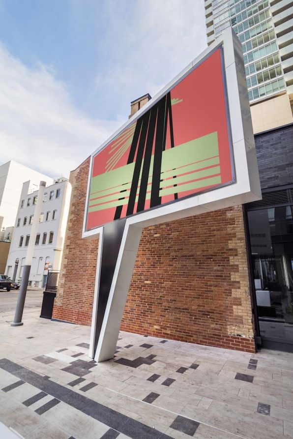 Speech Bubble | Public Art // an ever-changing public art show sculpted out of steel frame, with aluminum fascia trim paneling to enclose an enormous LED display screen // Public Art Engineered Fabricated Geometric