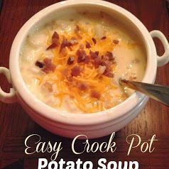 simply made with love: Easy Crockpot Potato Soup  Modification to recipe...I added half a cup of 2% milk, half a package of ranch dip seasoning mix and the whole package of real bacon bits. SOOO GOOD!!!