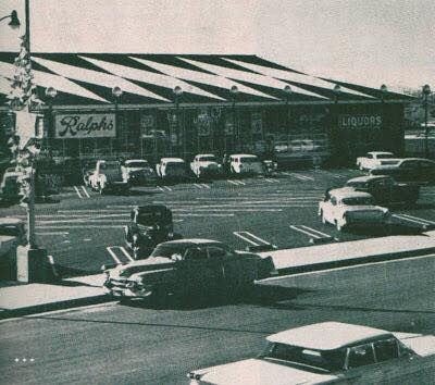 "Ralphs in Granada Hills opened at 17020 Chatsworth Street in November 1959. The store opened with a four-day ""International Song-Dance-Food Festival,"" featuring 250 folk dancers from 27 nations, the Tinkertown Train, Eddie Cletro and his band, and last but not least, Flippo the Clown. An hour-long live TV broadcast went out on the first evening on KHJ-TV. To top it off, there was a preview of the 1960 International Auto Show in the store's parking lot. It is now home to a Walgreens…"