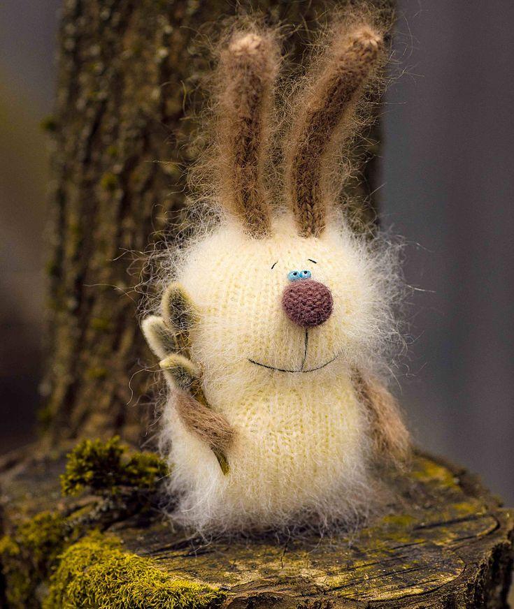 Stuffed Bunny toys hand-knitted rabbit Toy amigurumi bunny Miniature toy stuffed Animal Doll Stuffed Toy Bunny Plush bunny Easter decor toy by MiracleStore on Etsy