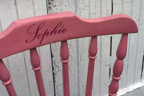 Children's upcycled wooden nursery chair personalised with your child' – Emily Rose Vintage