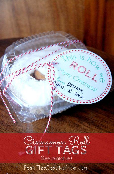 Cinnamon Roll Gift Tags {Free Printable} | The Creative Mom