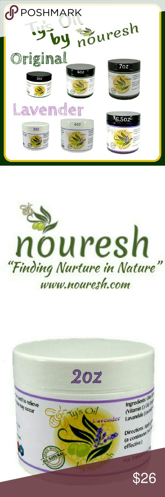 All Natural Skin care for Eczema, Psoriasis, etc All Natural Skin care by nouresh for Eczema, Psoriasis, and even Diaper rash, our family recipe is helping families get relief from their dry and sensitive skin. Gentle enough for baby and strong enough to tackle those dry skin issues. Various sizes and 2 lines: Original and Lavender. Ingredients: Beeswax, Pomace Olive Oil, Oregano Leaf Oil, Vitamin E Oil, and Lavender* [*only in lavender line ].  I use this on my skin and face morning and…