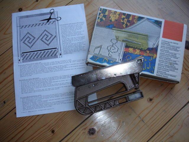 Passap Knitting Machine Patterns : PASSAP / PFAFF Knitting Machine Deco Pattern Card Punch MACHINE KNITTING ...