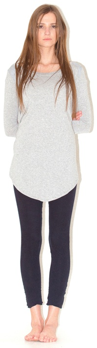 long sleeve tee panel leggings - BEST SELLER staple in any wardrobe, long to the ankle, good fit, elasticated waist, cotton hanger loops on inside for better merchandising