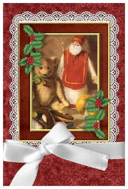 Fabuleux 119 best CARTE ST NICOLAS images on Pinterest | Father christmas  QE39