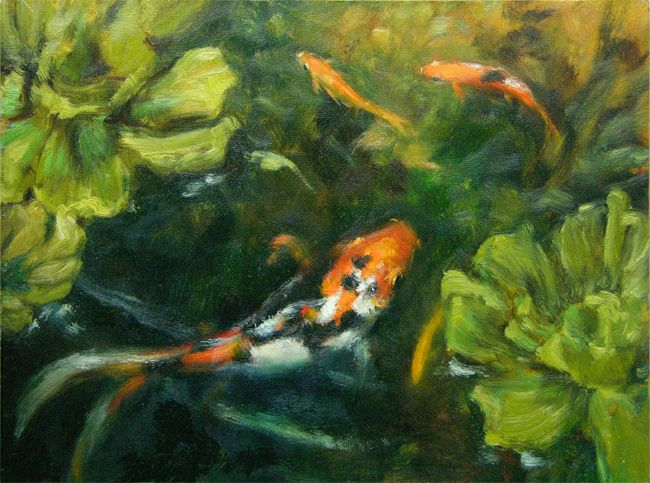 17 best images about art fish frogs on pinterest for Best goldfish for pond