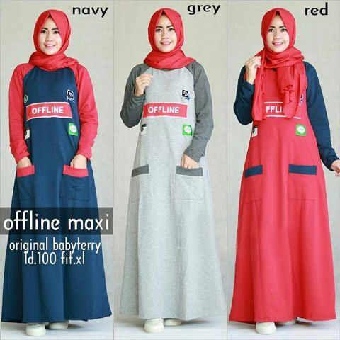 Produk Terbaru: Baju Gamis Modern Offline Maxi - http://www.bajugamisku.com/baju-gamis-modern-offline-maxi