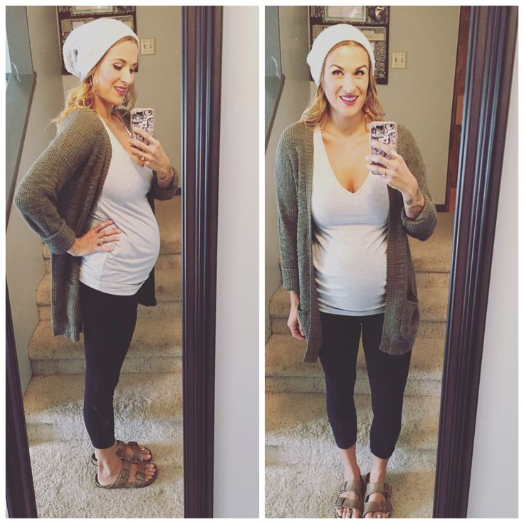 slouchy beanie from Target Maternity leggings and top from H&M