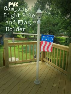 lamp post flag bracket