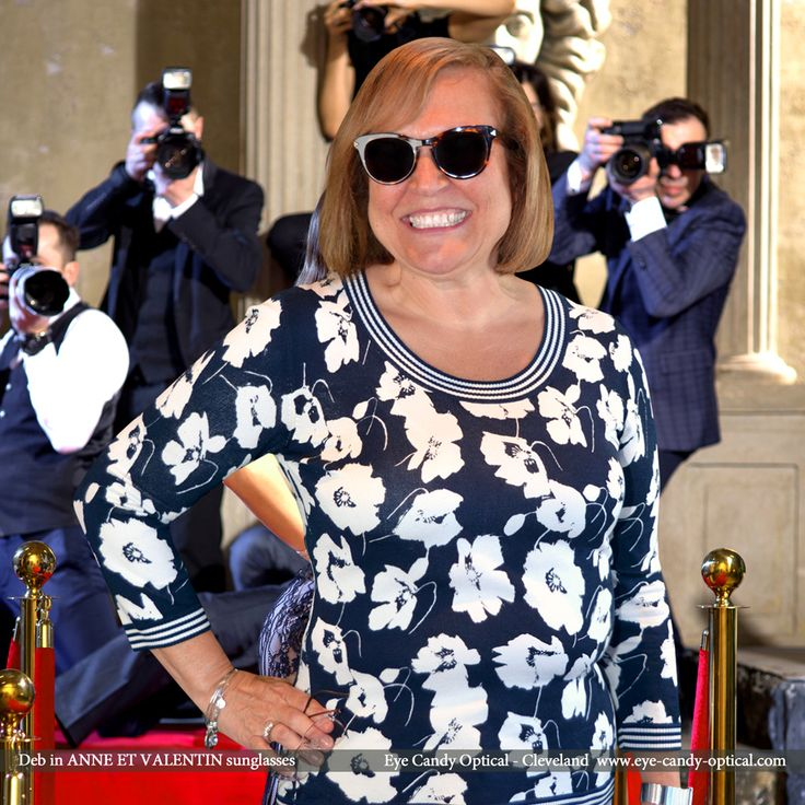 Deb is a Hollywood's super star wearing her new designer sunglasses by Anne et Valentin. Eye Candy – Be on a fashion magazine's front cover with the finest European Eyewear Fashion! Eye Candy Optical Cleveland – The Best Glasses Store! (440) 250-9191 - Book an Eye Exam Online or Over the Phone  www.eye-candy-optical.com www.eye-candy-optical.com/Contact/sign_up - Join our mailing list